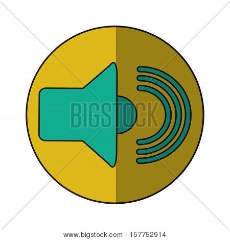 Volume icon. Music sound musical and stereo theme. Isolated design. Vector illustration