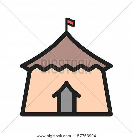 Circus, tent, event icon vector image. Can also be used for circus. Suitable for web apps, mobile apps and print media.