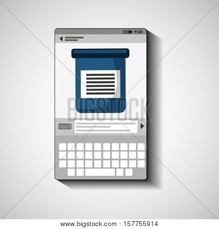 mobile device health care test examen vector illustration eps 10