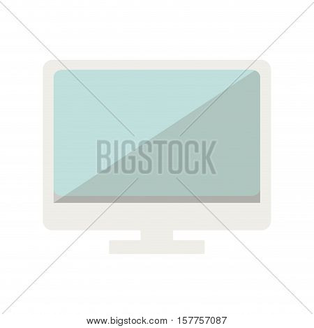 lcd monitor color with half screen blur vector illustration
