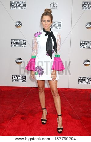 LOS ANGELES - NOV 20:  Renee Bargh at the 2016 American Music Awards at Microsoft Theater on November 20, 2016 in Los Angeles, CA