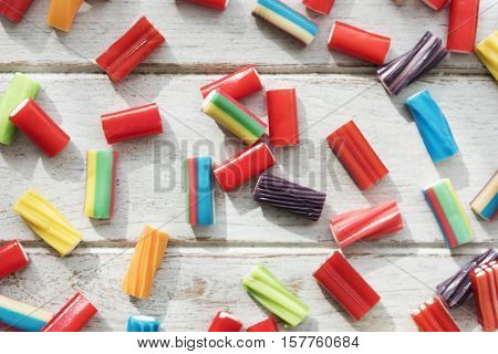 Candy Colorful Jello Junk Kid Party Concept