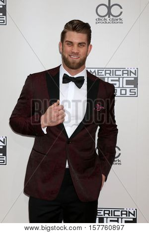 LOS ANGELES - NOV 20:  Bryce Harper at the 2016 American Music Awards at Microsoft Theater on November 20, 2016 in Los Angeles, CA