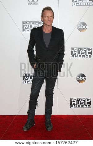 LOS ANGELES - NOV 20:  Sting at the 2016 American Music Awards at Microsoft Theater on November 20, 2016 in Los Angeles, CA