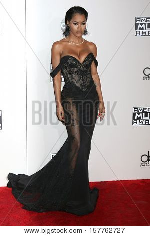 LOS ANGELES - NOV 20:  Teyana Taylor at the 2016 American Music Awards at Microsoft Theater on November 20, 2016 in Los Angeles, CA