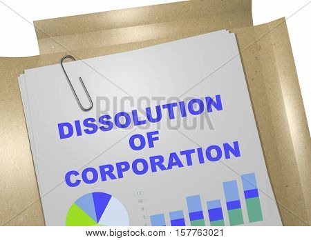 Dissolution Of Corporation Concept