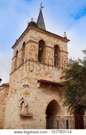 Zamora San Cipriano church in Spain by Via de la Plata way to Santiago
