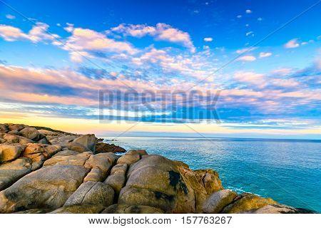 Dramatic sunset over the Fleurieu Peninsula South Australia