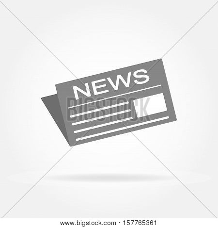 News and newspaper icon. Newspaper sign. Vector illustration.