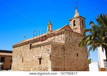 Torremejia church near Merida in Extremadura Spain by via de la Plata way