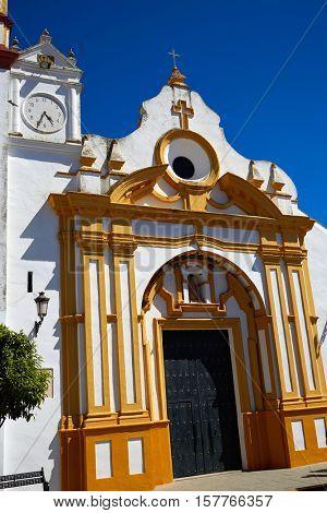 Castilblanco church by via de la Plata way of Spain in Andalusia