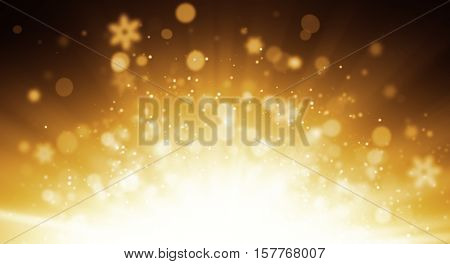 Abstract blur golden background with free space for text