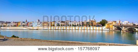 Triana barrio of Seville panoramic Andalusia Sevilla Spain