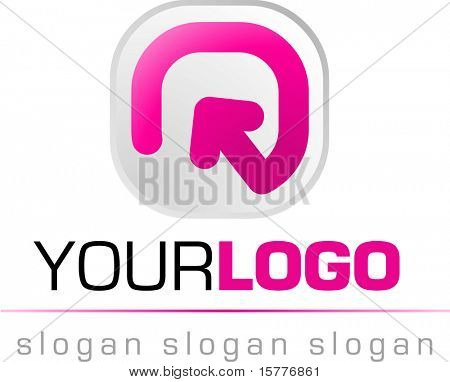 abstract logo and icon, vector web 2.0