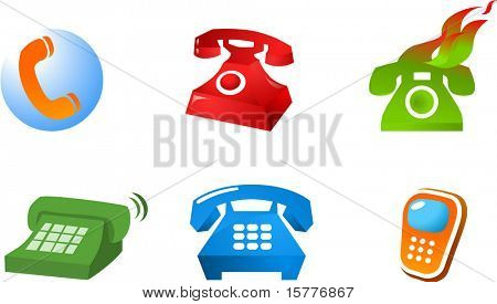 collection of logo and icons of phones web2.0 , vector file