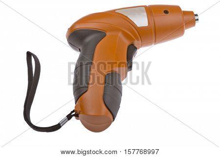 orange screwdriver isolated on white background