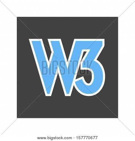 Web, world, wide icon vector image. Can also be used for software development. Suitable for mobile apps, web apps and print media.