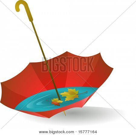 the autumn red umbrella with leaves - for additional works of this kind, CLICK ON MY NICKNAME BELOW TO VISIT MY GALLERY