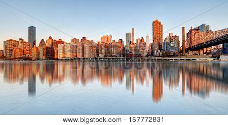 Queensboro Bridge New York City USA at day.