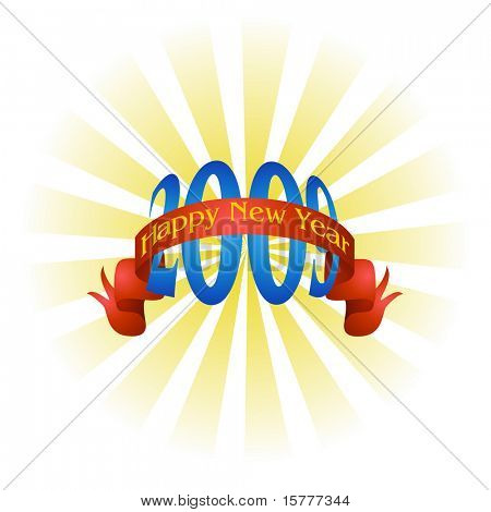 New Year - 2009, Vector greeting card