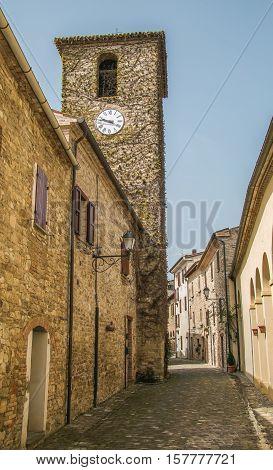 The old tower of Frontino village (Pesaro - Urbino), Italy