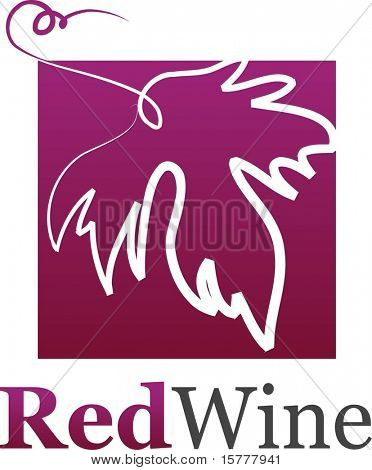 wine leaf icon