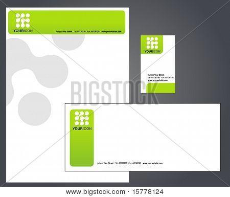 template of letterhead set