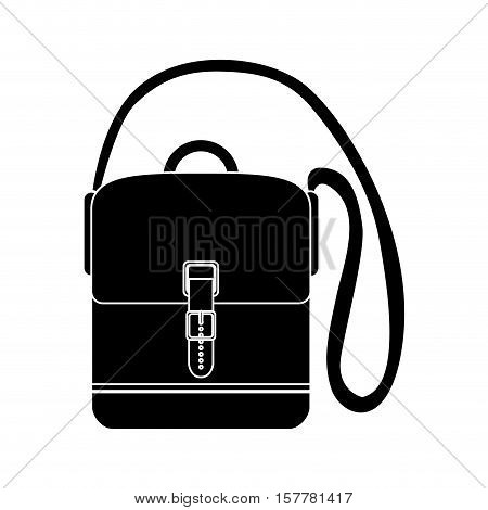 black silhouette travel Hands-free suitcase with straps vector illustration