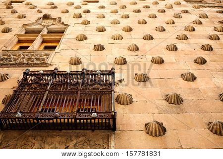 Casa de las Conchas shell house in Salamanca of Spain