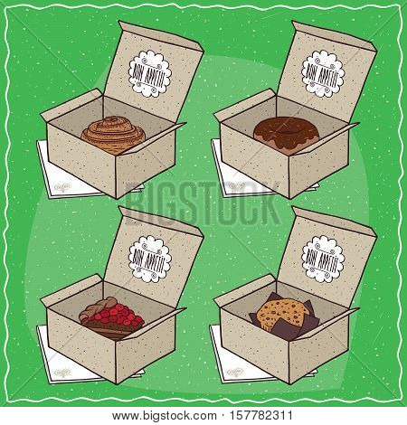 Confectionery Set In Carton Boxes
