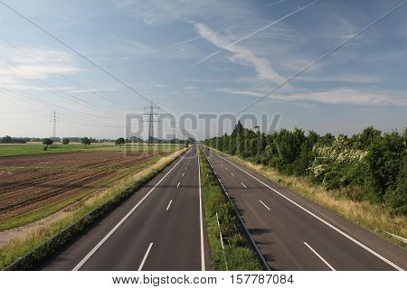 Empty highway / Morning on the autobahn