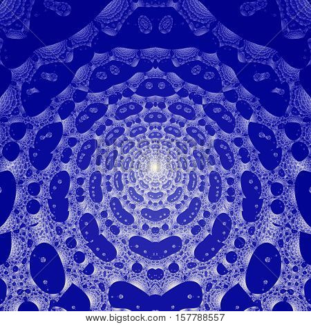 Blue and white Colored fractal pattern background