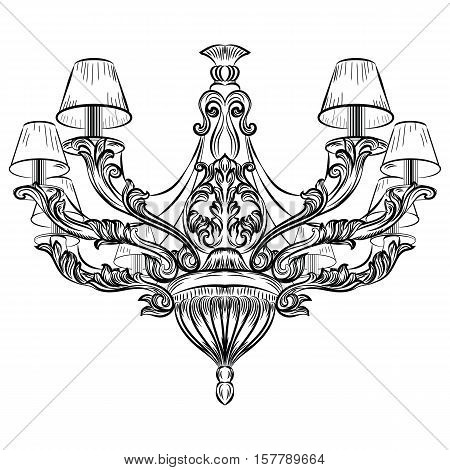 Baroque Exquisite Chandelier