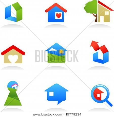 collection of real estate icons