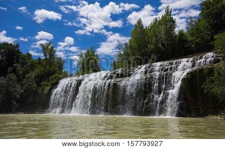 Sasso waterfall Cascata del Sasso in the marche region, Italy