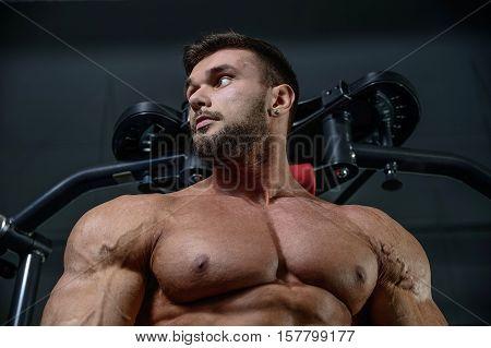 Strong Bodybuilder Man