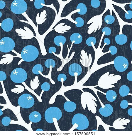 Abstract floral pattern on dark background. Vector illustration