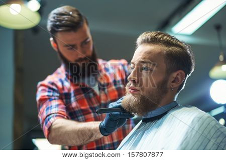 Professional in barber shop