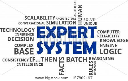 A word clod of expert system related items