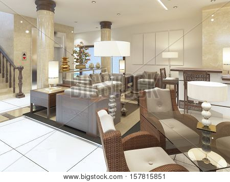 The Lounge Area In The Premises Of The Spa Hotel.
