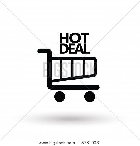 Sale discount icon. Hot Deal text, logo design. Vector illustration for Black Friday Sale event.