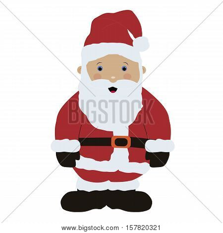 Colored icon baby Santa Claus in red clothes on white background. Winter vector illustration. Pattern to decorate or design scrapbook. Baby shower