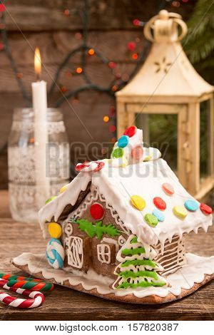 Gingerbread House. European Christmas Holiday Traditions.