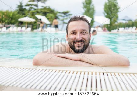 Man in pool
