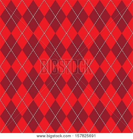 Vector seamless knitting pattern in red with rhombus.
