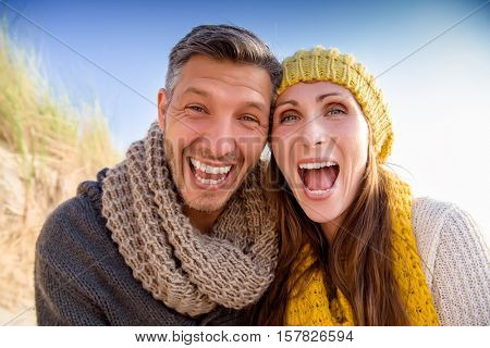 happy funny mid adult couple