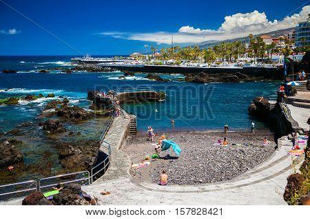 The Beach Of San Telmo In Puerto De La Cruz