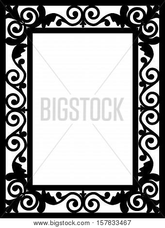 Pattern frame. Template for invitation or greeting cards