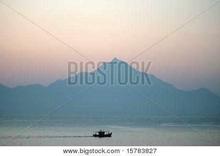 Early morning in greece