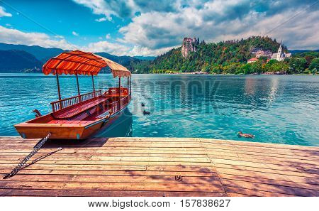 Lake Bled Is A Glacial Lake In The Julian Alps